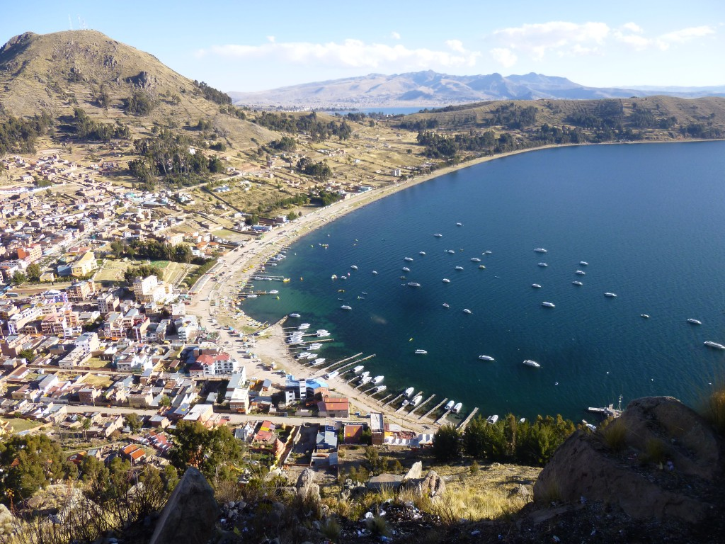 Copacabana on Lake Titicaca - Backpacking South America