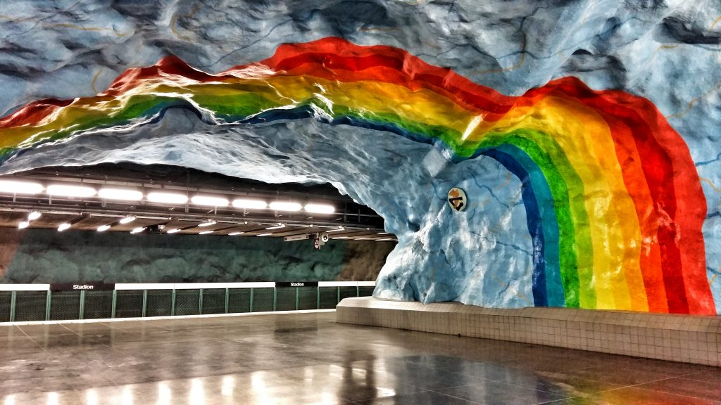 Stockholm Subway Art - Stadion Station