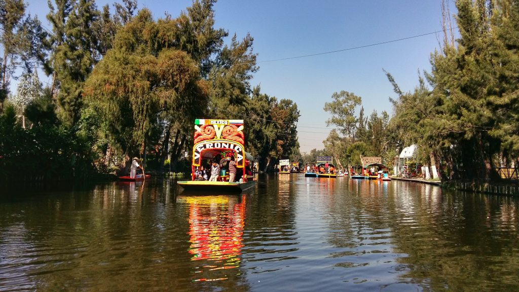 A Trajinera boat at Xochimilco - The Best things to do in Mexico City