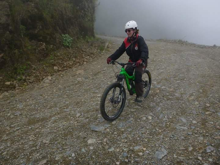 Biking down Death Rpad La Paz