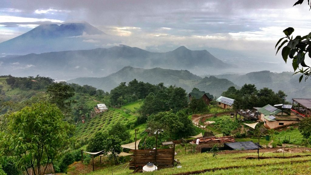 One of the spectacular views across the valley from Hobbitenango, Guatemala's answer to Middle Earth