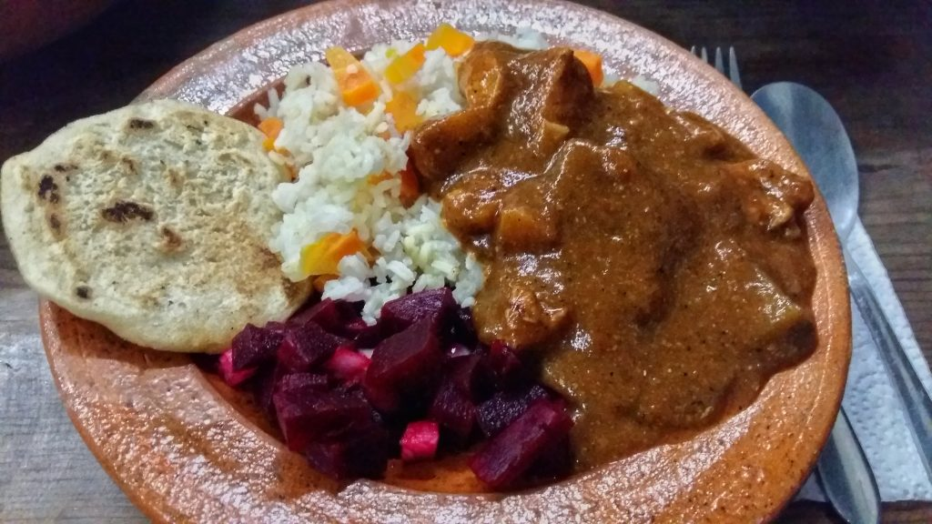 Typical food in Guatemala - Pepian Stew. Backpacking Guatemala Guide