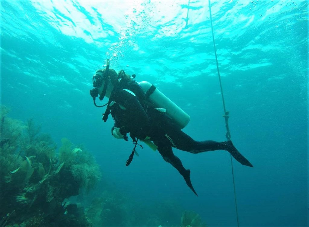 Me Diving in Utila Honduras with Utila Dive Center
