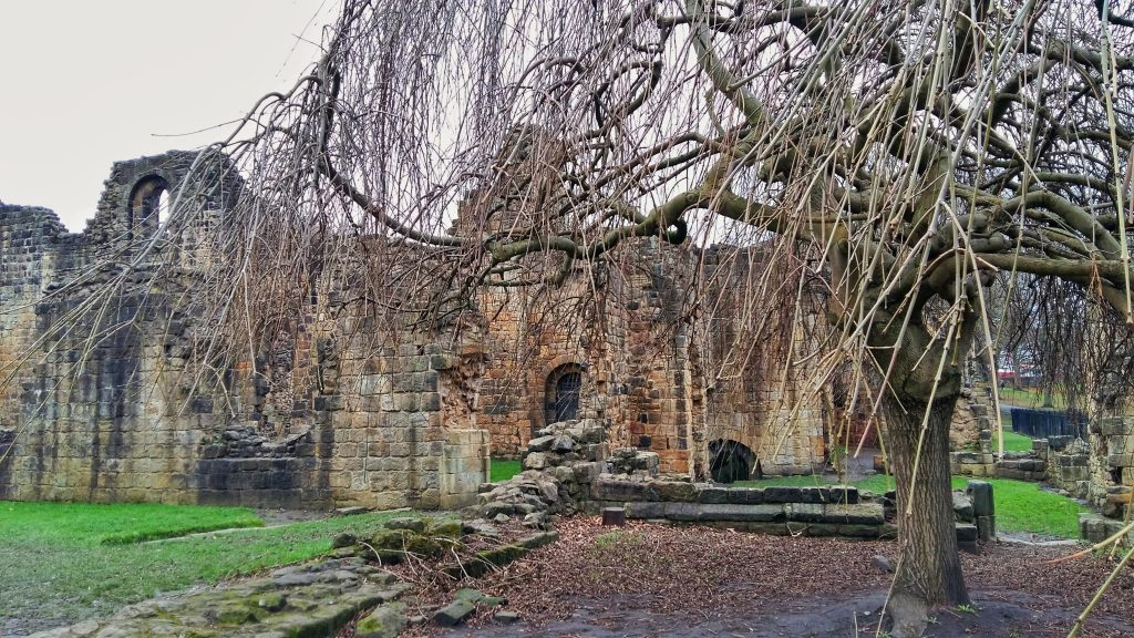 Exploring Inside Kirkstall Abbey Leeds - things to do in Leeds England Yorkshire