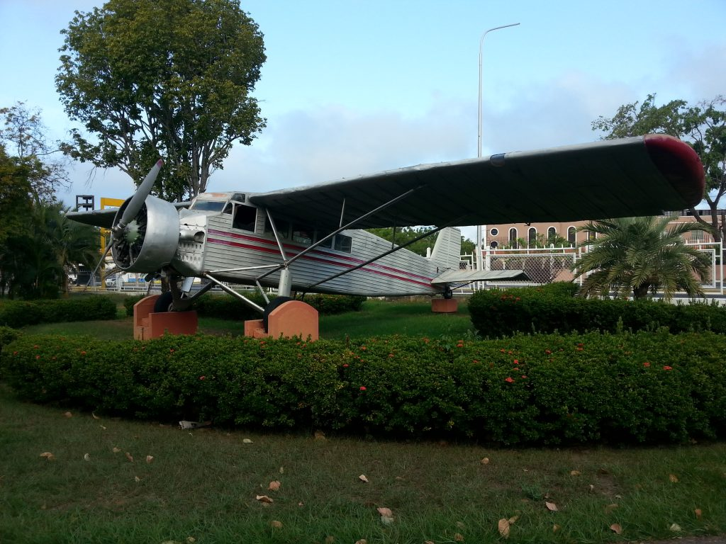 Jimmie Angel's Aeroplane outside the airport in Ciudad Bolivar Venezuela