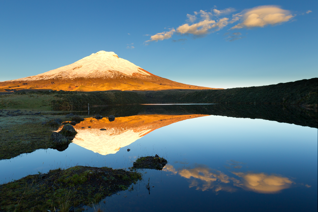 Beautiful Cotopaxi Volcano in Cotopaxi National Park Ecuador