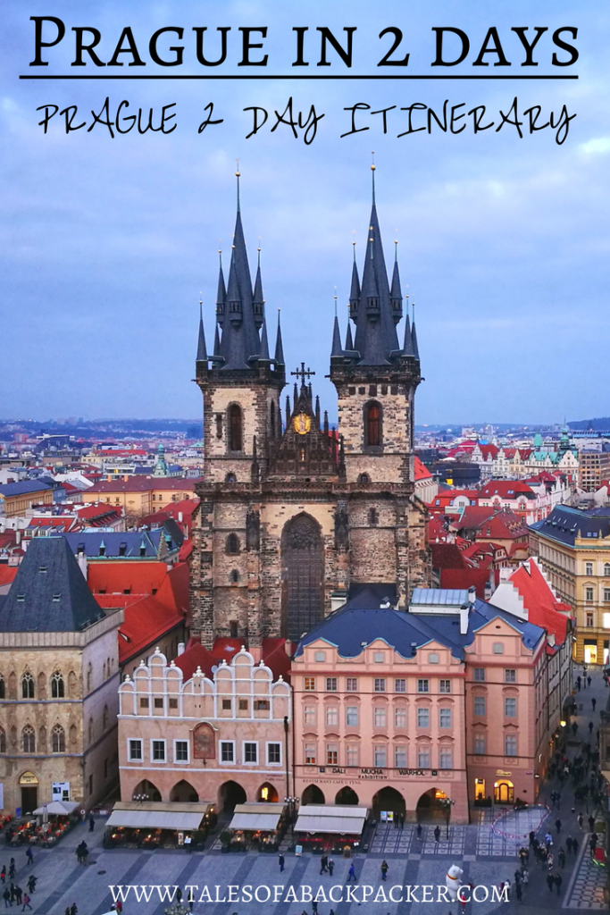What to do in Prague in 2 days - a Prague 2 Day Itinerary. I loved Prague, a beautiful city with plenty to see and do no matter how long you stay there.  I asked Pierre from Anything Under Our Stars to share his suggestions for what to do in Prague in 2 days with his Prague 2 day itinerary, covering Prague highlights including the Old Town and the Castle, food & accommodation. #Prague #Europe #Travel #CzechRepublic #Czech