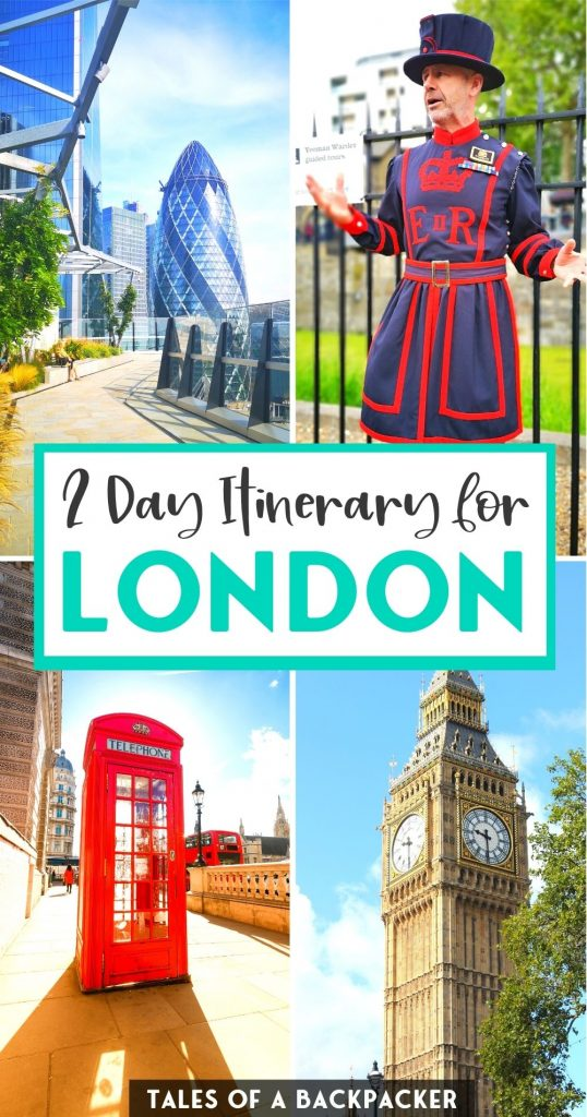 2 Day Itinerary for London England