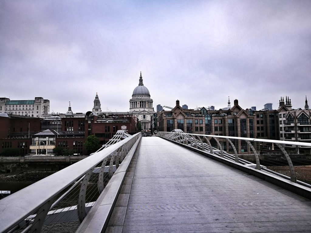 London in Winter - St Paul's Cathedral from Millenium Bridge
