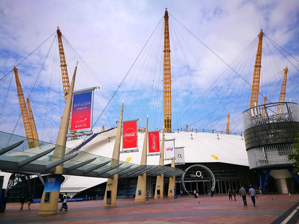 The O2 Arena in London, aka the Millenium Dome