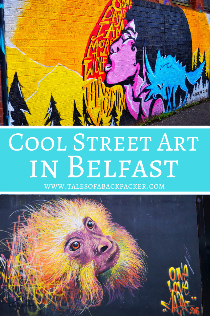 You can find some amazing street art in Belfast, here is some of my favourite Belfast Street Art #Belfast #NorthernIreland #StreetArt #UnitedKingdom #grafitti