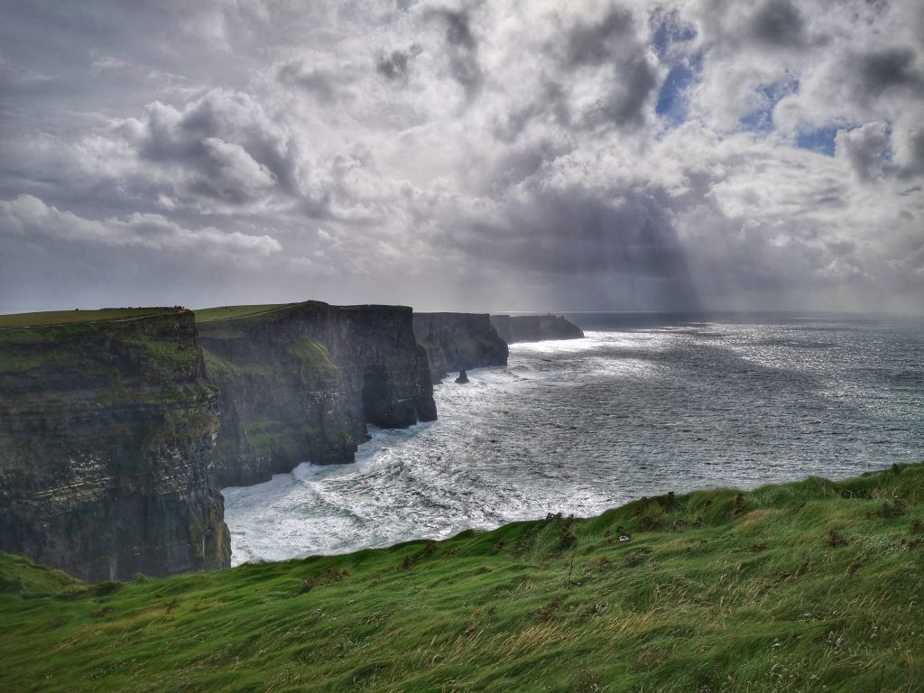 The Cliffs of Moher on a stormy afternoon - A must on your tour of Ireland
