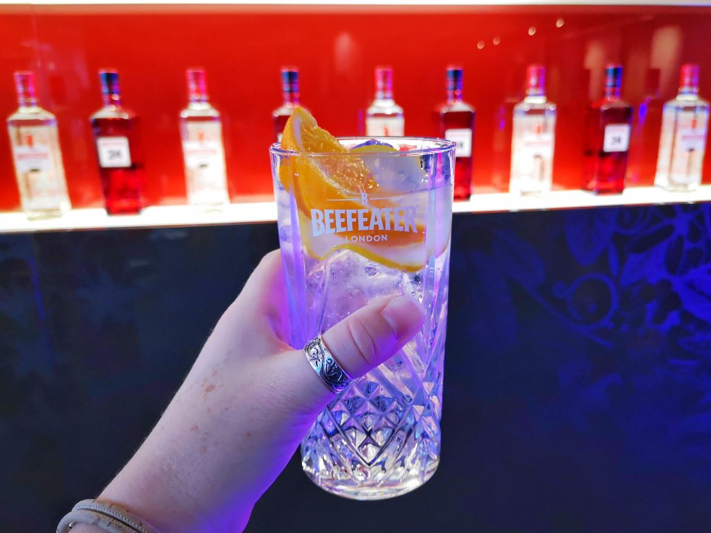 A delicious Gin and Tonic at the Beefeater London Gin Experience