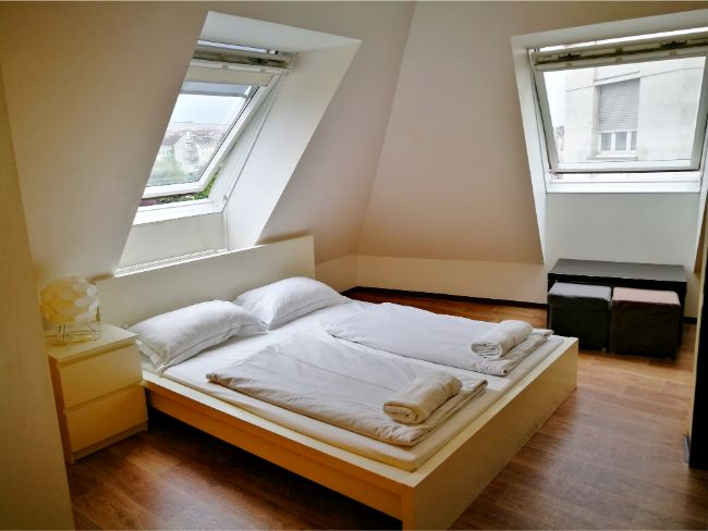 A private room at Wombat's City Hostel Naschmarkt - Where to Stay in Vienna on Budget