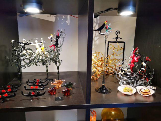 Some of Massimiliano Calderone's work on display