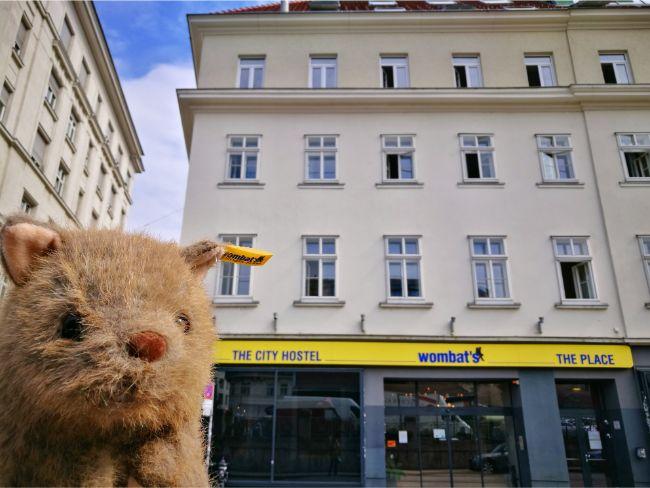 Wagner Wombat outside Wombat's The City Hostel Vienna The Naschmarkt