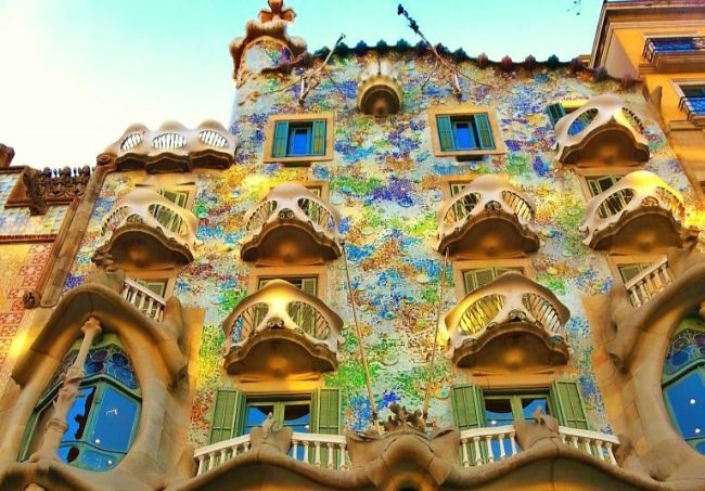 Gaudi's Casa Batllo in Barcelona - Romantic Cities in Europe