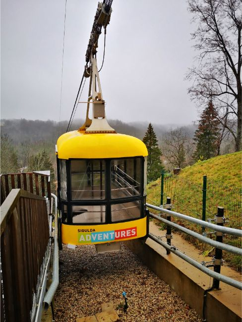 Yellow Sigulda Cable Car