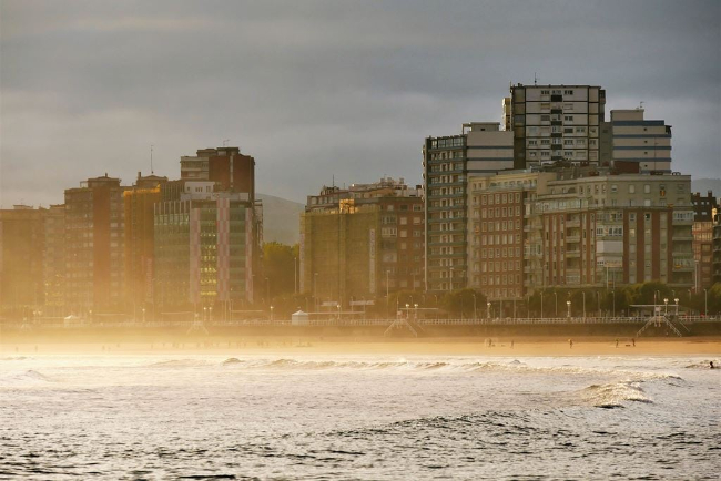 Gijon - Winter in Spain