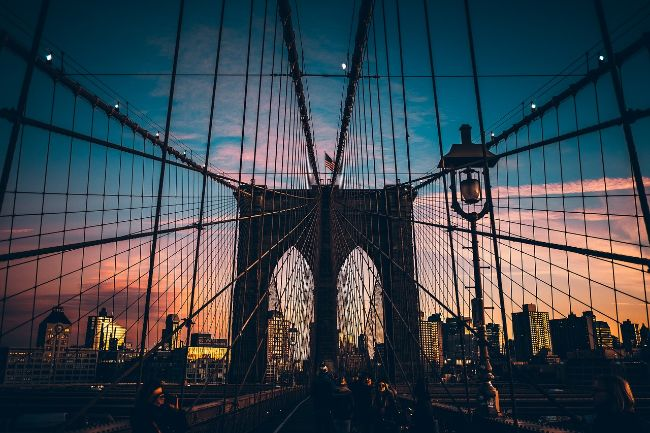 Brooklyn Bridge New York at Sunset - USA Bucket List