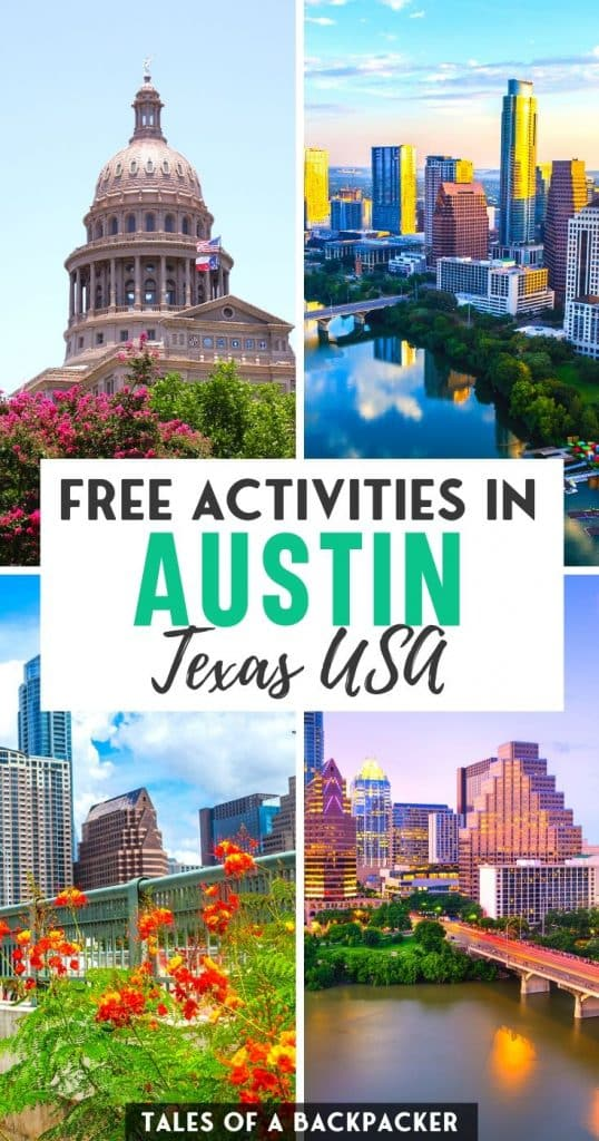 Pin for Free Activities in Austin Texas US
