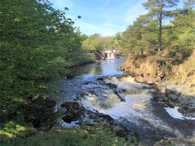 Low Force Waterfall on the Teesdale Way Hike in Cumbria