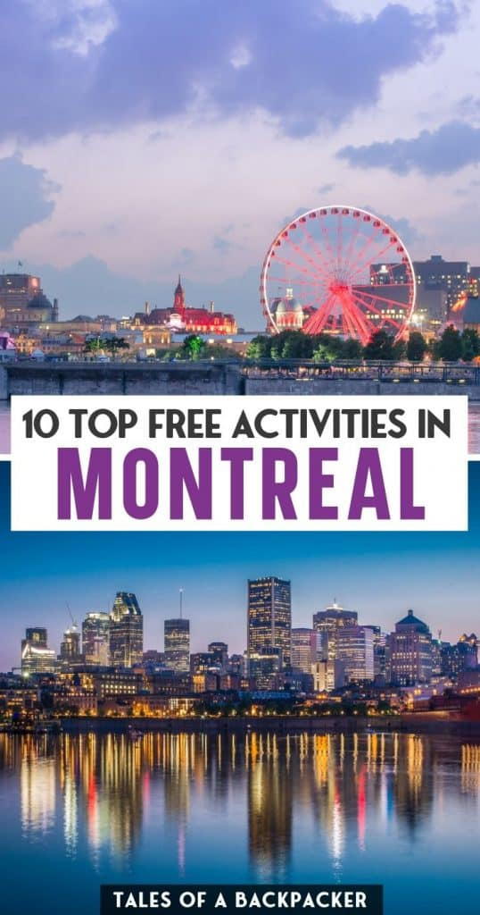 Pin for Top Free Things to do in Montreal Canada