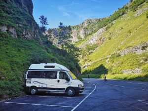 Mabel the Motorhome Parked in Cheddar Gorge - Campervan Tips for Beginners 1200