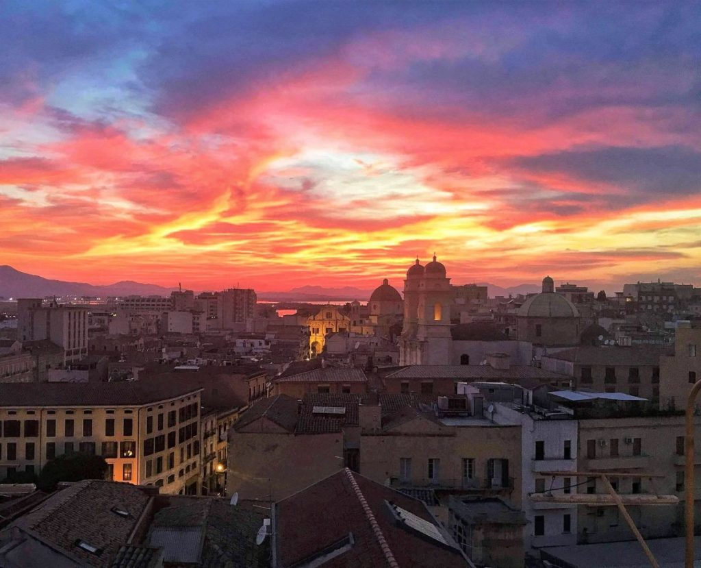 Sunset in Cagliari - Visiting Sardinia in Winter