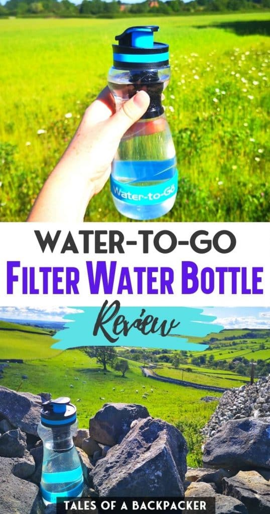 Water to Go Filter Water Bottle Review Pin