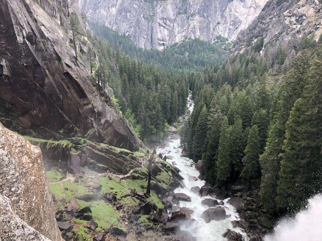 Vernal Falls in Yosemite National Park Credit Crazy Family Advennture